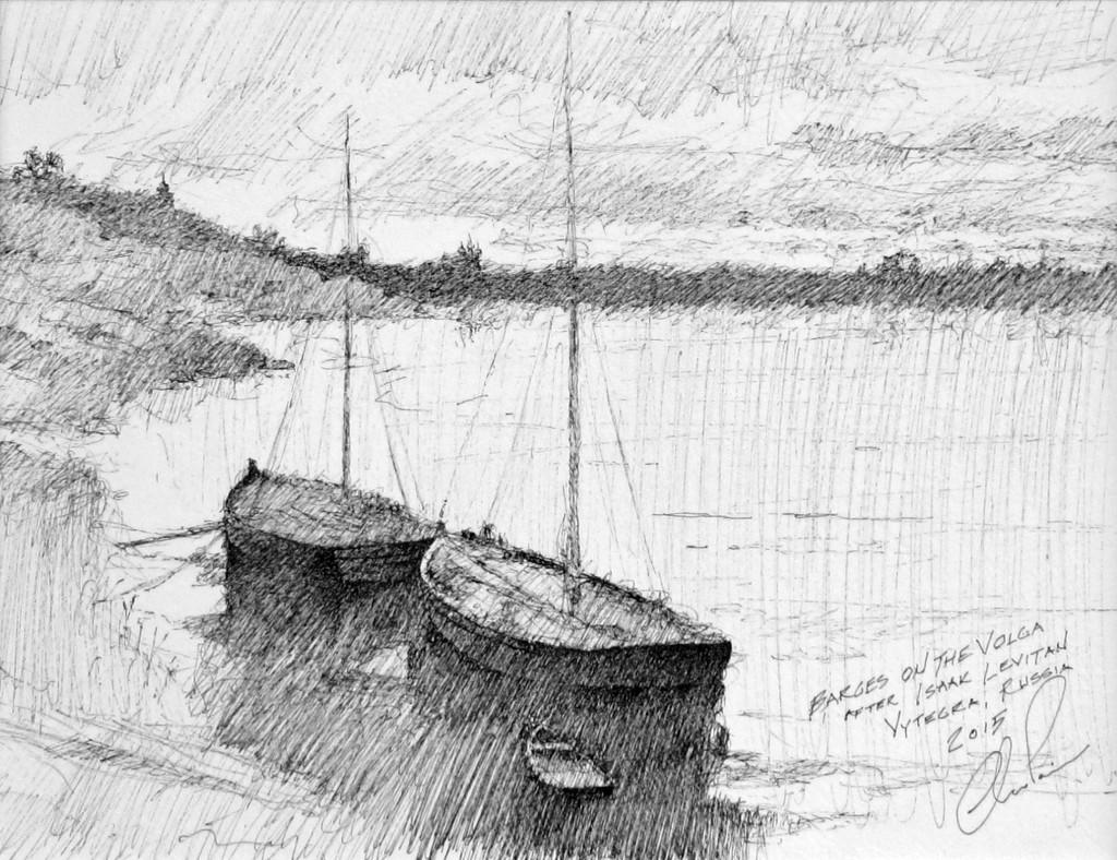 Barges on the Volga noframe