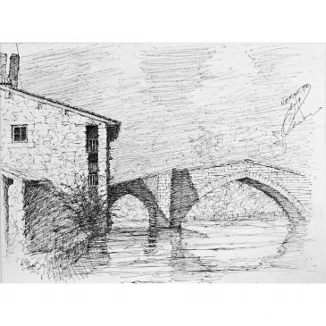 NERAC BRIDGE, A' GAUCHE