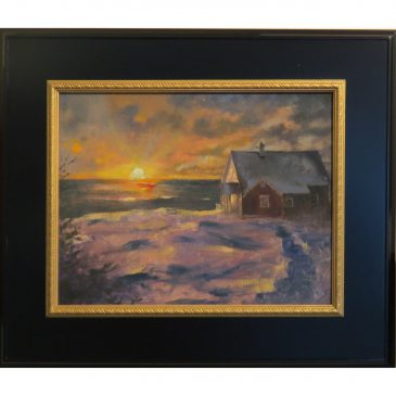 Winter Sunset Monhegan